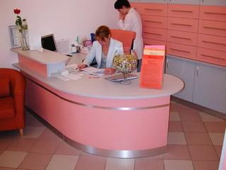 Розовая рецепция в медицинский центр