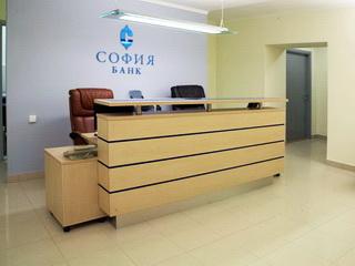Стойка администратора для банка «София»