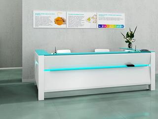 Визуализация зоны ресепшн для клиники