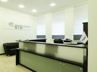 Стойка-ресепшн для банка ВТБ